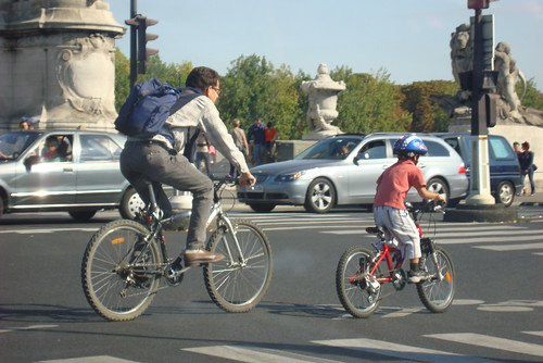en bicyclettes