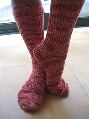I knitted very long socks this time