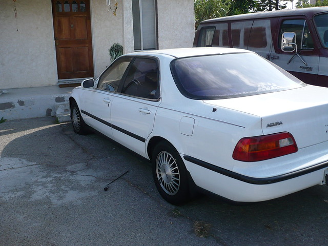 car sedan automobile vehicle 1991 legend import acura