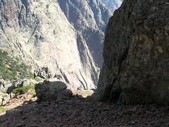 Versant Sud du Ceppu: dalles granitiques du Capu di Meta di Filu