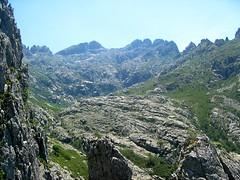 Haut vallon de Coracchia et crêtes du Migliarelllu