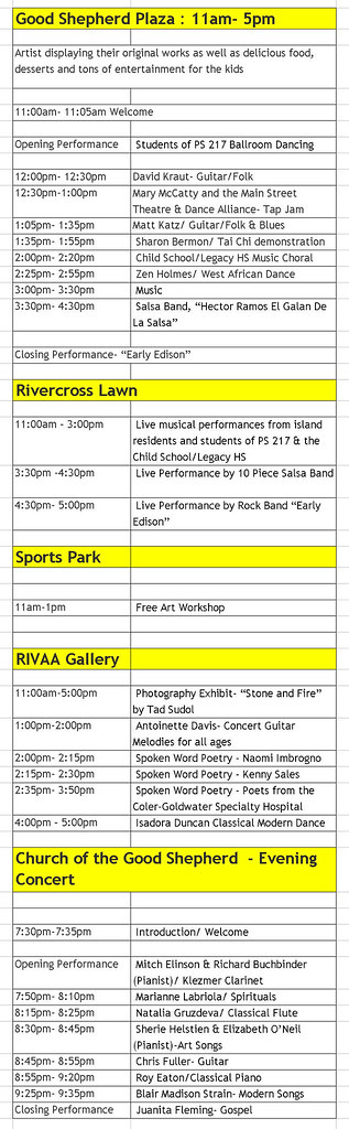 Fall Arts Schedule_at125p