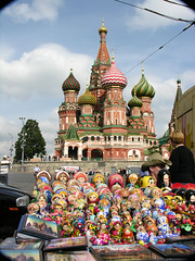Dolls and domes (Roving I) Tags: history vertical retail architecture buildings souvenirs dolls russia moscow religion hats churches cathedrals tradition domes society putin matrioshka stbasils mockba
