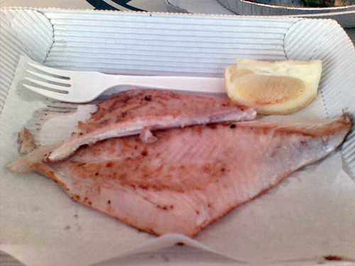 Grilled bream@Fisheries on the Spit