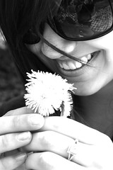 *dandelions* (Focused on You by gabrielle) Tags: flower smile sunglasses dandelions