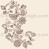 Mehndi Henna Tattoo Paisley Doodles Illustration by blue67design