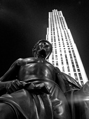 Mr Rockefeller Will See You Now (skipmoore) Tags: nyc newyorkcity statue manhattan rockefellercenter rockefeller