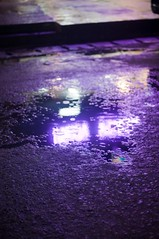 After Dark (silverlily) Tags: road street trip light holiday reflection water night dark puddle thailand island 50mm nikon asia purple violet indigo kohtao turtleisland kotao d90