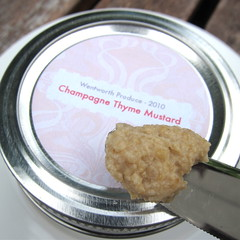 Homemade Champagne Thyme Mustard