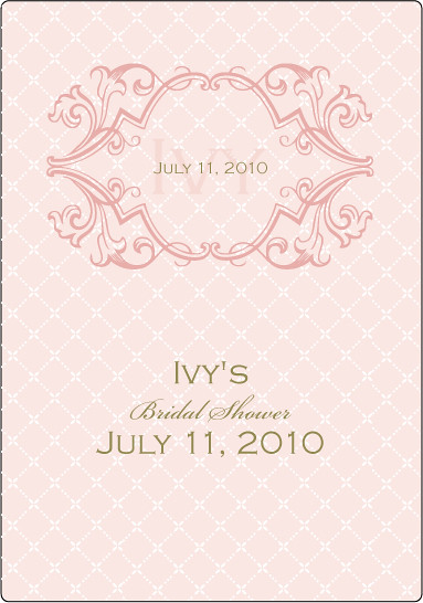 Wine Tag for Bridal Shower