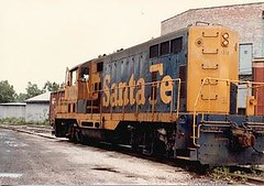The Santa Fe  I.N branchline local . Chicago Illinois. 1984.