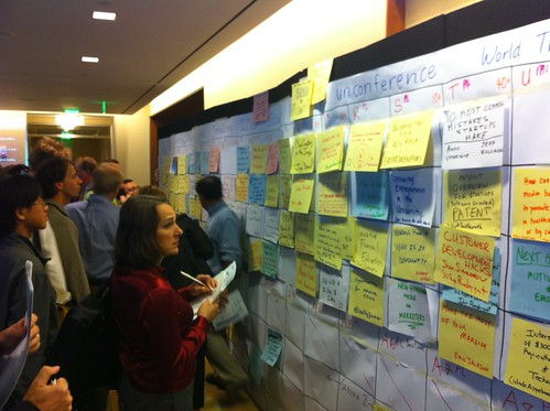 Big board of sessions at masstlc