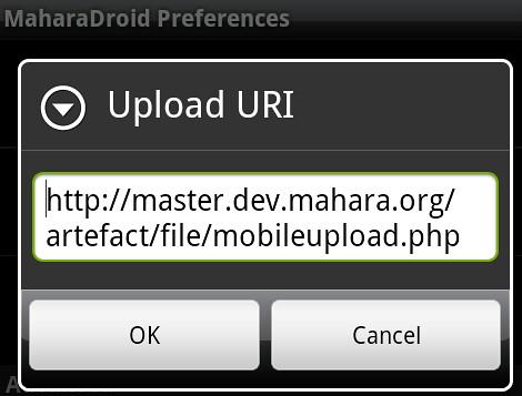 Upload URI