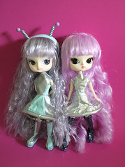 Cosmic Dals (RequiemArt.com) Tags: twins mercury ooak dal customized pullip jupiter requiem custom cosmic pullips mercu jupi dals requiemart