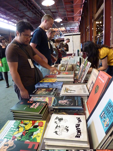 Fantagraphics table - Alternative Press Expo (APE), Oct. 16-17, 2010