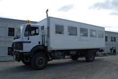 kangerlussuaq - Mancat truck (Vida Morkunas (seawallrunner)) Tags: cwall kangerlussuaq greenland vestgronland westgreenland westerngreenland returntoeurope hurtigruten ataleoftwoicelands cruise travel july2010
