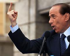 Berlusconi all'uscita dal processo Mediatrade