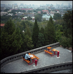 overhead overheard (beetabonk) Tags: china 120 6x6 tlr mediumformat square beijing   c41 kodakportra400nc rolleiflex28c cnbjrf400nc1010004