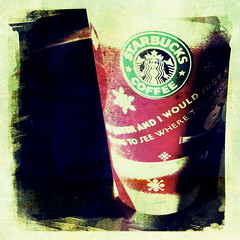 Oh Starbucks peppermint mocha, how I love thee . . . (Janine Graf) Tags: cameraphone apple coffee square drink starbucks 3gs iphone peppermintmocha iphonephotography dreamcanvas hipstamatic janine1968 irisphotosuite dreamcanvasfilm