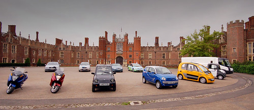 Eco-Rally display at Hampton Court Palace