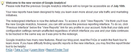Google Analytics: Old Version Ends July 18th