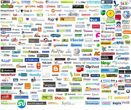 Web 2.0 Collage logos