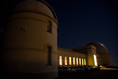 The Glow of Learning (mrjoro) Tags: california longexposure night outside unitedstatesofamerica sanjose observatory dome lickobservatory mthamilton santaclaracounty starred diablomountains summervisitorsprogram 40inchdome 36inchdome