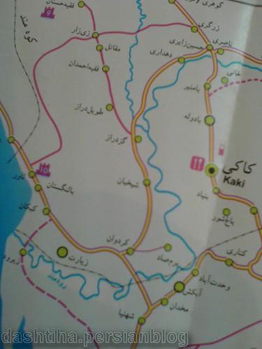نقشه شهرستان دشتی - ماندستان