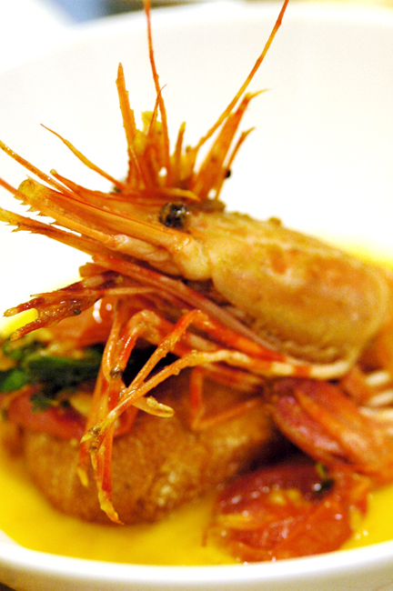 Spot Shrimp with Tomato Confit