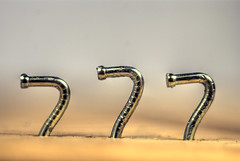 Bent nails spell 777