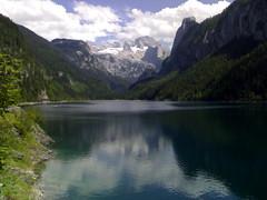 Landschaftsfoto mit Bergsee (Gosau)