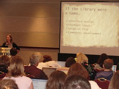 Lisa Janicke Hinchliffe talks about gaming at the University of Illinois, Urbana-Champaign Library