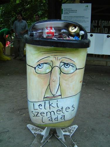 Funny looking bin