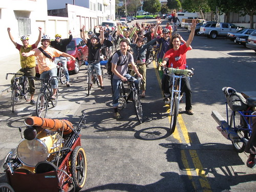 SF Cruisers taking a rare daytime cruise at the Bicycle Music Festival