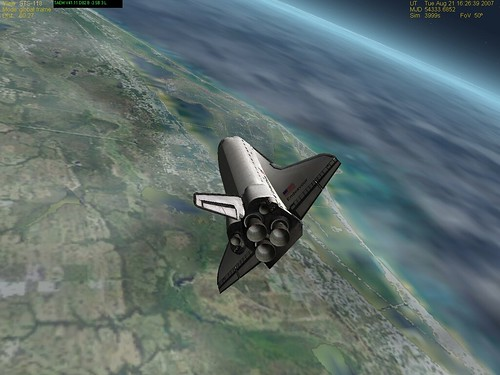 STS-118 KSC Approach