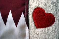 "{ My QATAR, My LOVE } (    Neutral --"") Tags: red white love dark happy day sad heart flag id country feel special soul feeling residence independance cure doha qatar independanceday darkred 3nabi"