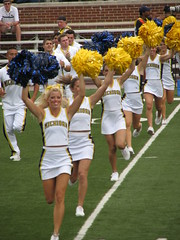 Go Big Blue (bekahlp) Tags: oregon football cheerleaders michigan annarbor bighouse universityofmichigan wolverines big10 goblue maizeandblue