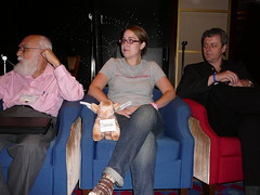 Randi, me, and Richard on the panel