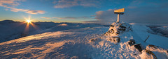 Sunset on Roalden (Jens Inge Ringstad) Tags: winter sunset snow norway landscape february cairn strandafjellet roalden