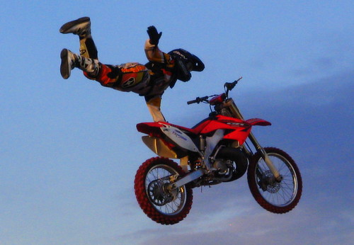 Flying Motorcycle stuntman 2