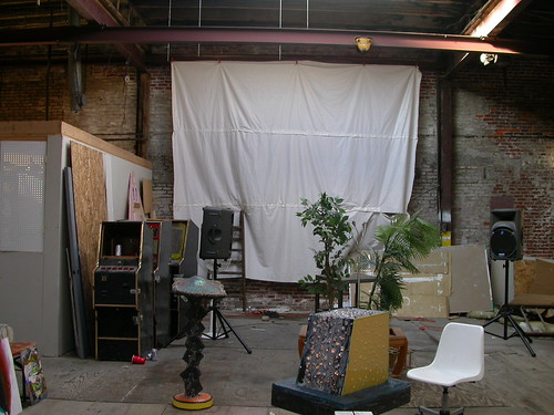 common area in shared studio building
