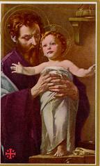 Christ Child with St. Joseph (Orchard Lake) Tags: joseph jesus christchild holycard