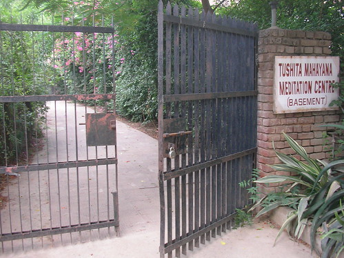 Gate to Tushita Mediation Center, Delhi
