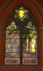 Madonna and Child (Charlene E. James) Tags: boston stainedglass tiffany churchofthecovenant