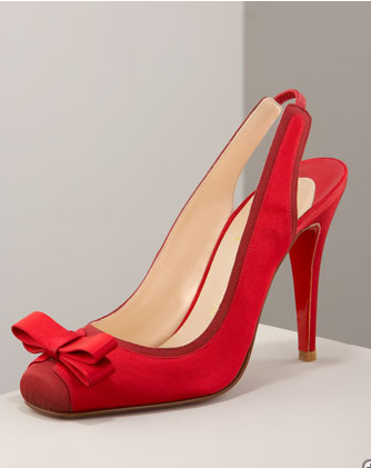 Nooka Bow Slingback- Neiman Marcus :  heel slingback shoe