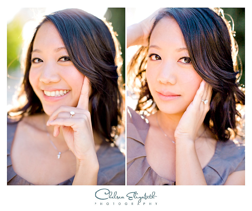 Bride headshot with diamond ring