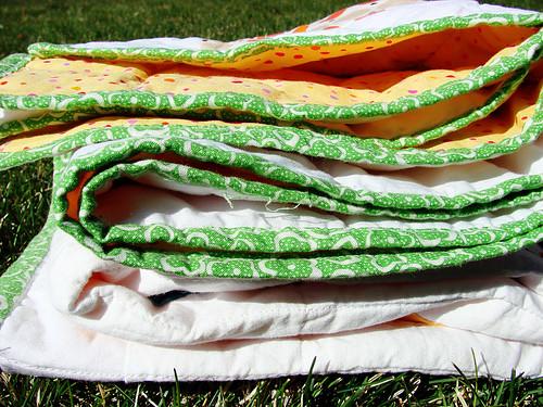 take-along quilt: edges