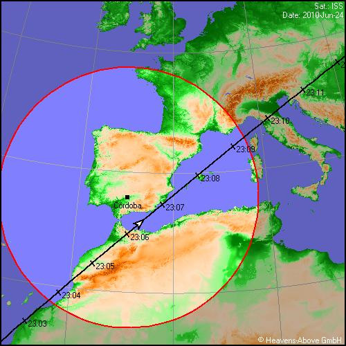 ISS Path on June 24th 2010