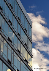 Clouds (Rafakoy) Tags: city blue windows sky cloud ny newyork color colour reflection building window colors skyline clouds digital reflections chelsea cityscape colours image manhattan perspective images pointofview sample polarizer circular highline afsnikkor18105mmvr nikond7000
