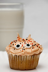 102510 (AgentThirteen) Tags: food halloween dessert milk cupcake snack 365